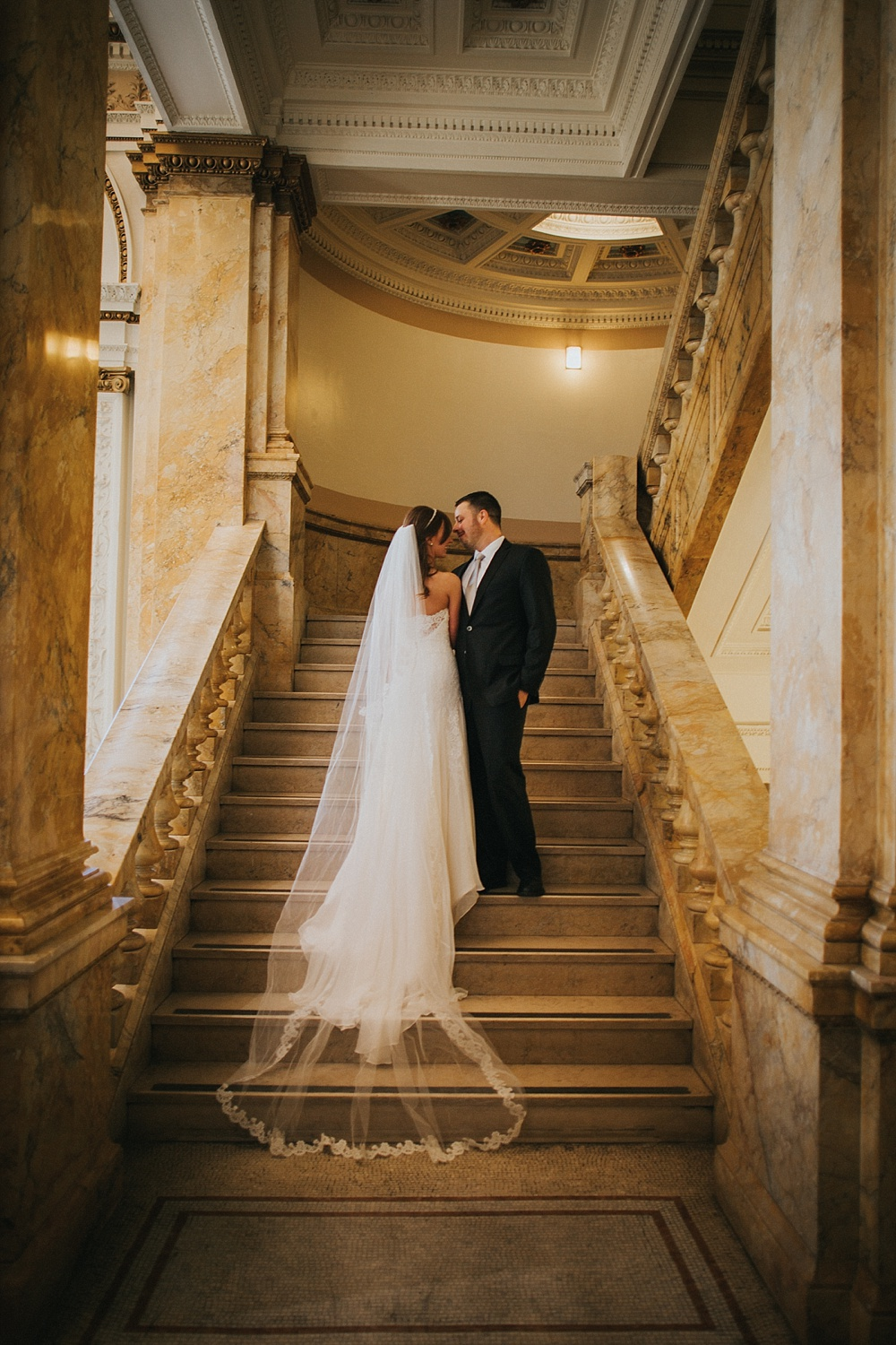 Intercontinental Milwaukee Wedding - Milwaukee Winter Wedding - Liller Photo - Milwaukee Wedding Photographers - Milwaukee Public Library