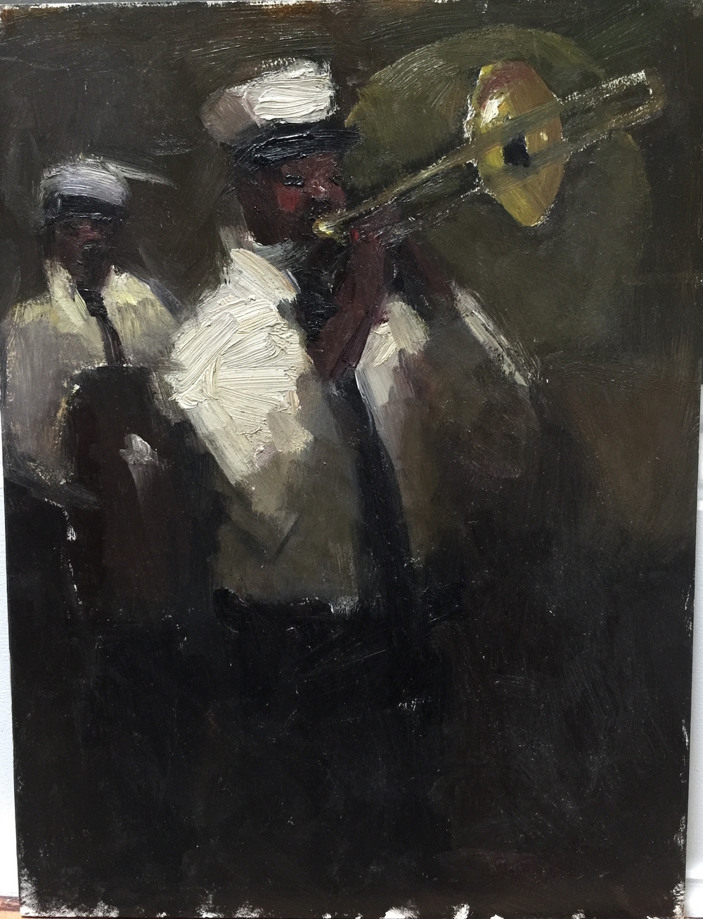 Kamin,Stacy,Jazz,OilonBoard, 9x12, 875.00.jpg