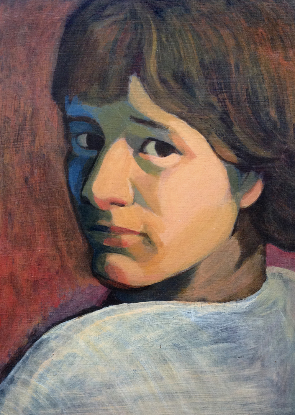 My mother's painting of me as a teenager.