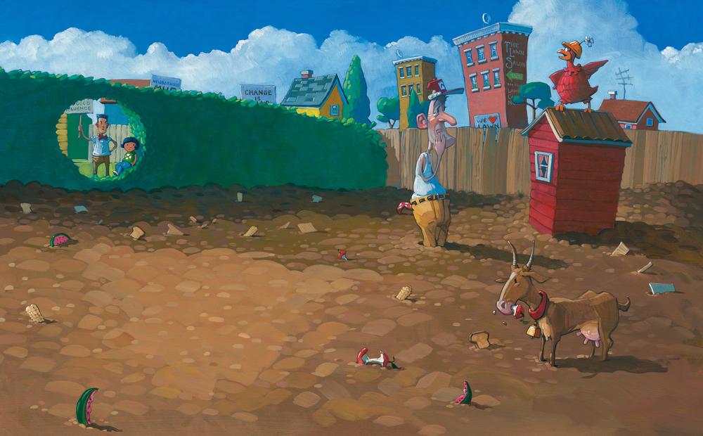 Mud Garden • Oil on illustration board