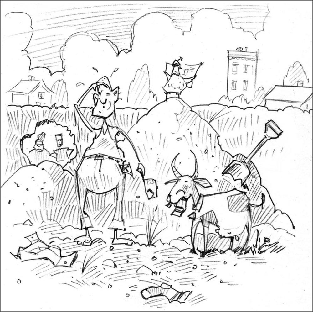 Original sketch for Big Plans.