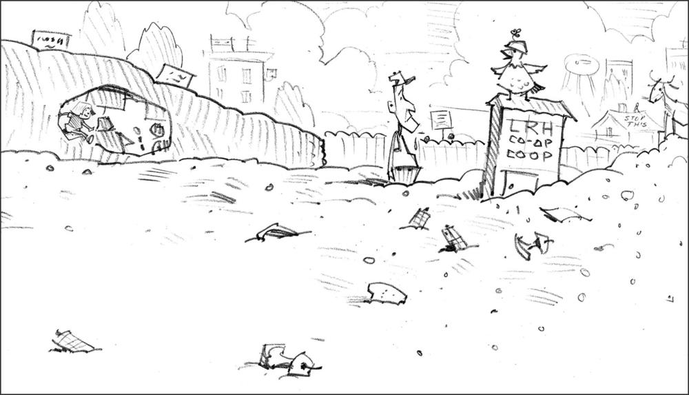 Sketch for Mud Garden.