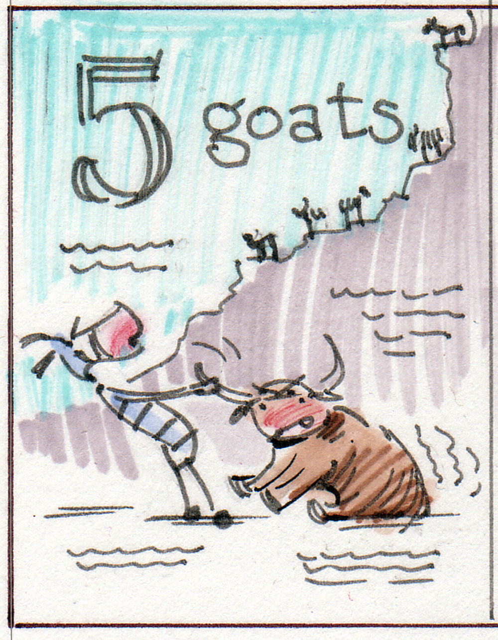 Thumbnail sketch for 5 Goats.