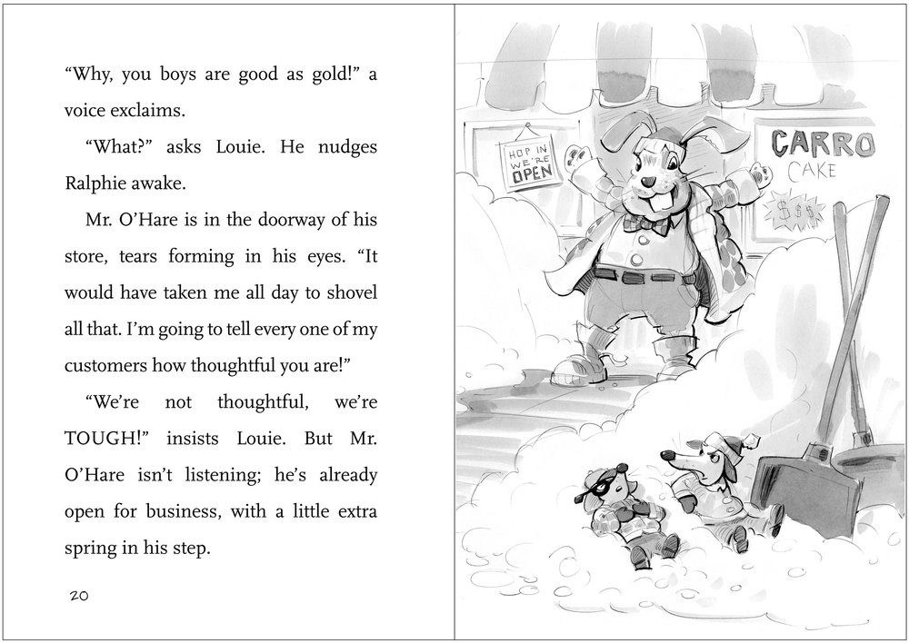 A page from the layout, including preliminary watercolor for The Wrong Walkway. Note how different the Ratso Brothers look, from the sketch to the final art.