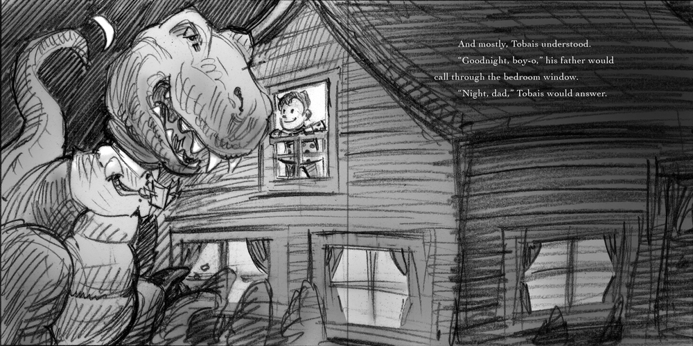 Final sketch for Bedtime Story.