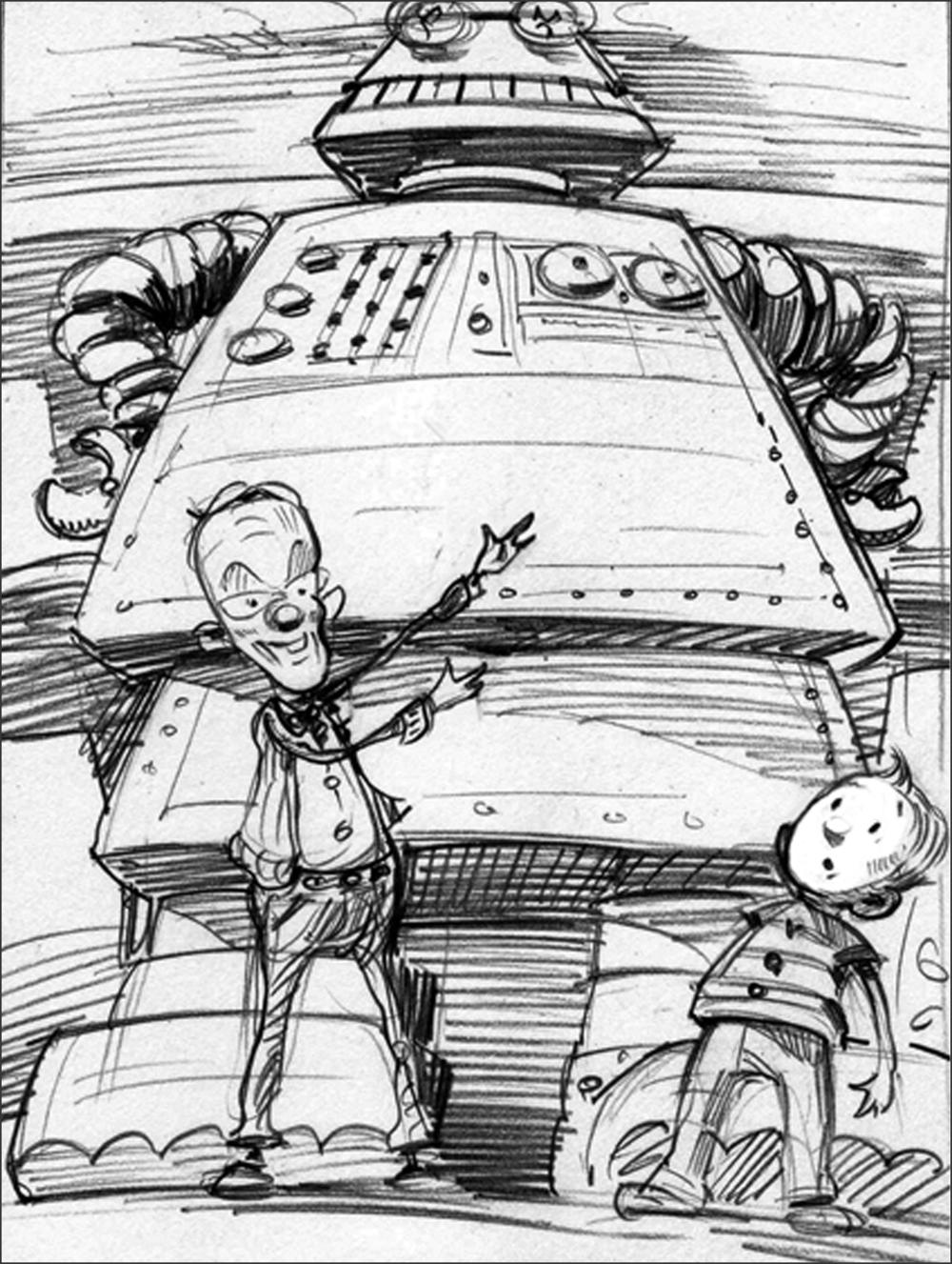 Sketch for   Megabot.