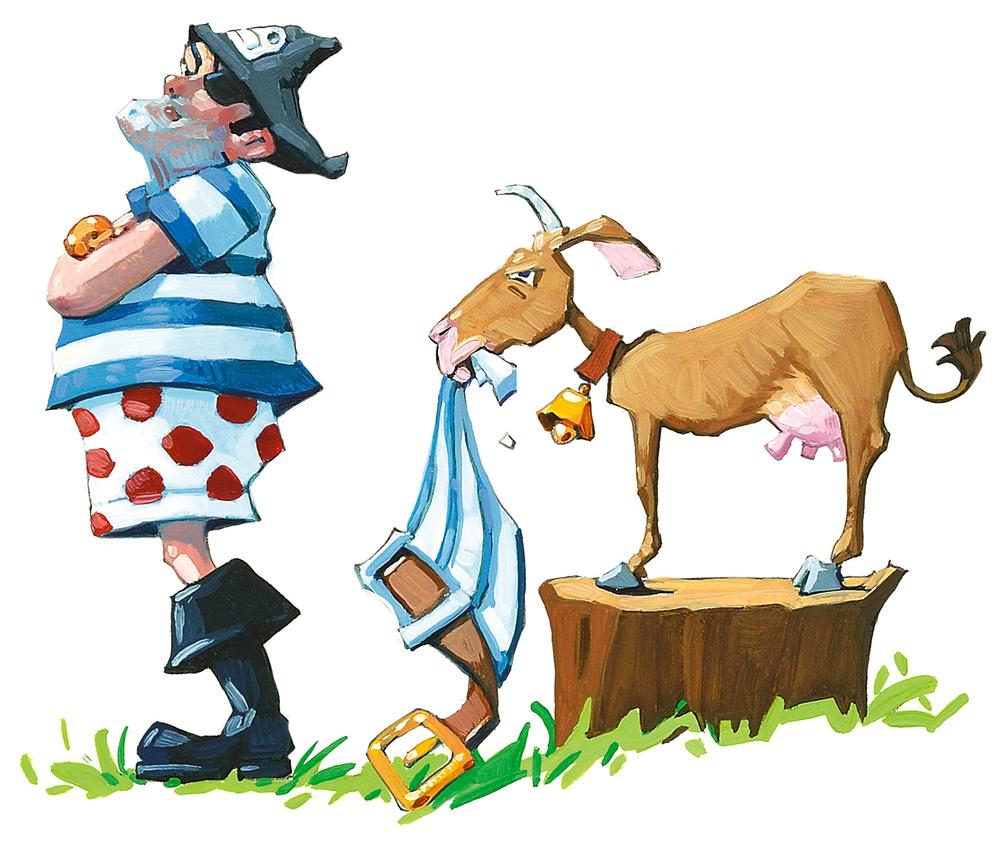 Not a Goat  • Oil on illustration board
