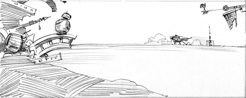 Sketch for  The Ship , shown above.