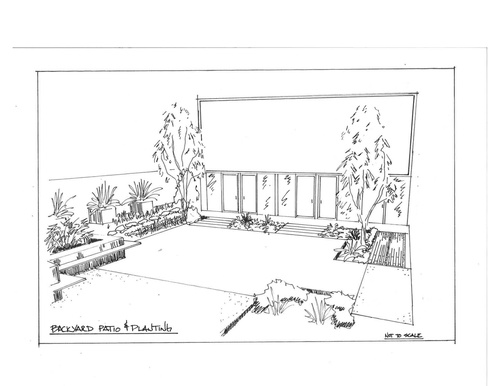 Design Sketches Paving And Layout Backyard