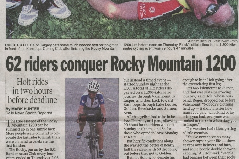 2012 Rocky Mountain 1200km Randonee