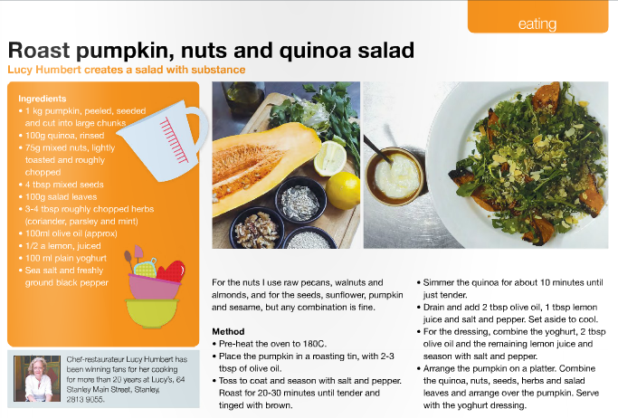 Lucy's Roast pumpkin, nuts and quinoa salad for Southside Magazine .png