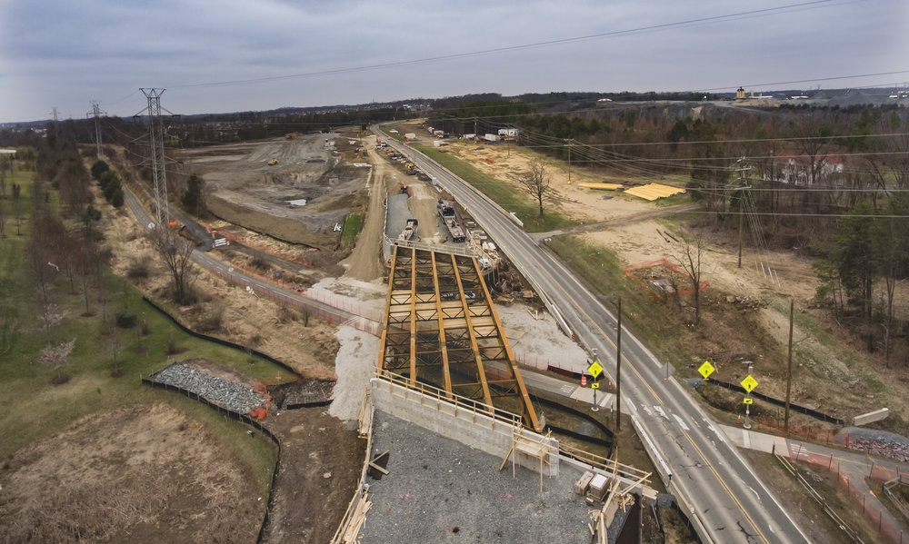 New bridge construction over the Washington & Old Dominion Trail