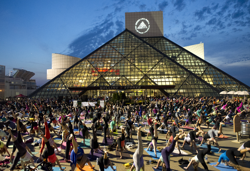 The Believe in CLE inaugural event at Cleveland s World Famous Rock   Roll  Hall of Fame. About Us   Believe in CLE   A Yoga Movement Celebrating Cleveland