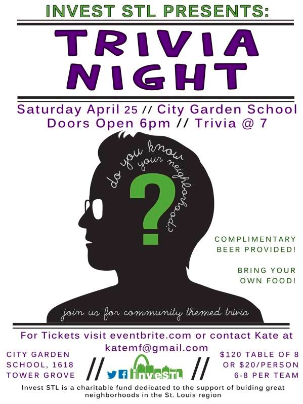 2nd Annual Trivia Night - 4/25/15