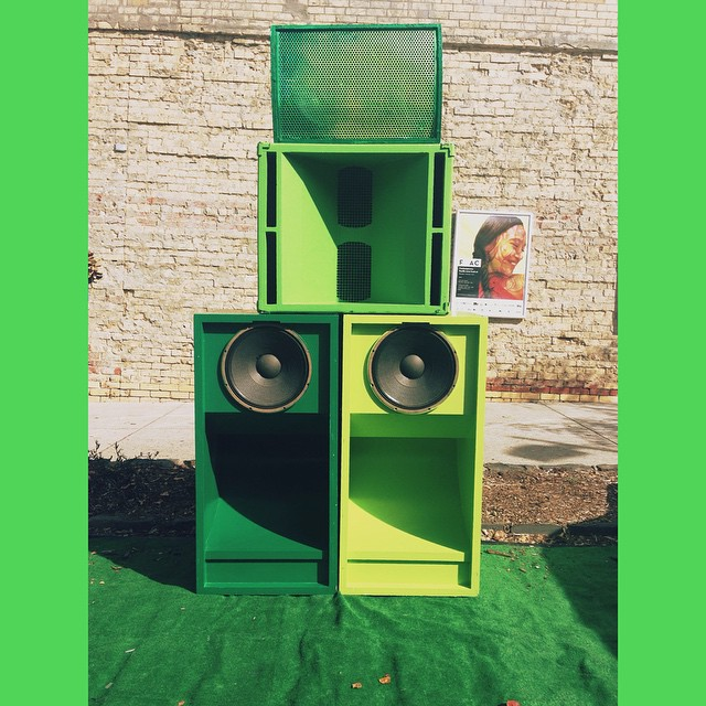 We are so excited to borrow Lucreccia Quintanilla's incredible sound system providing awesome tunes next to our shipping container @footscrayarts This is part of her #otherplanesofhere Masters project 🎶 Tunes compiled by the Pacific Photobook Participants #pacific #melbourne #australia #oceania #pasifika #micronesia #polynesia #melanesia #community #art #communityart #photography #photobooks #pacificphotobooks #footscray #communitypartnership #auscouncilarts #maribyrnong #selfpublishing #narrative #storytelling #cpaf #cpaf2015 #oceanianow