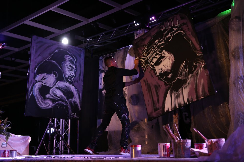 Mike Debus - Performance Painter