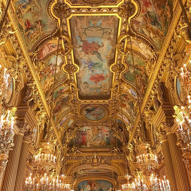 The story of Phantom of the Opera takes place in this grand opera house. I constantly find myself looking up all the time because the ceilings are just so intricate and mesmerizing.