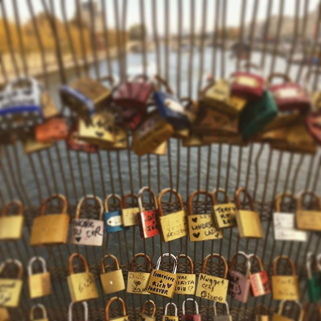 We declared our love in Paris and threw the key in the Seine River.