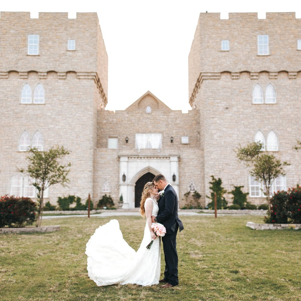 john + Kat the castle at rockwall