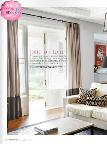 Tone on Tone, Home Beautiful Magazine