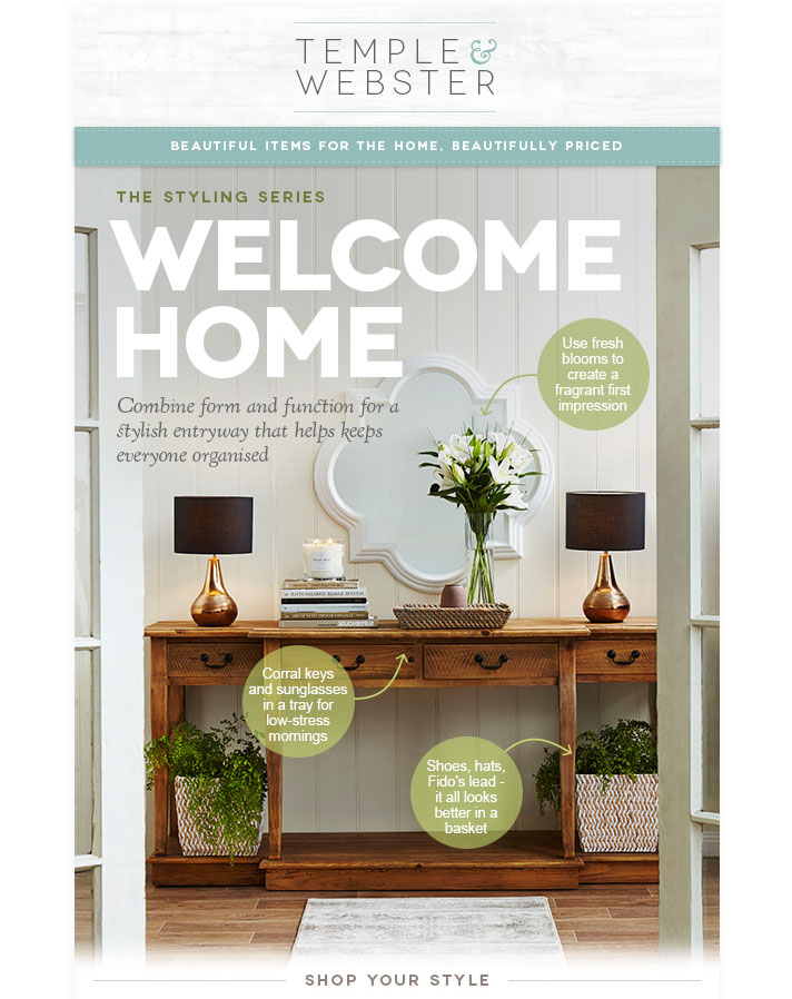 Welcome Home/ Temple & Webster