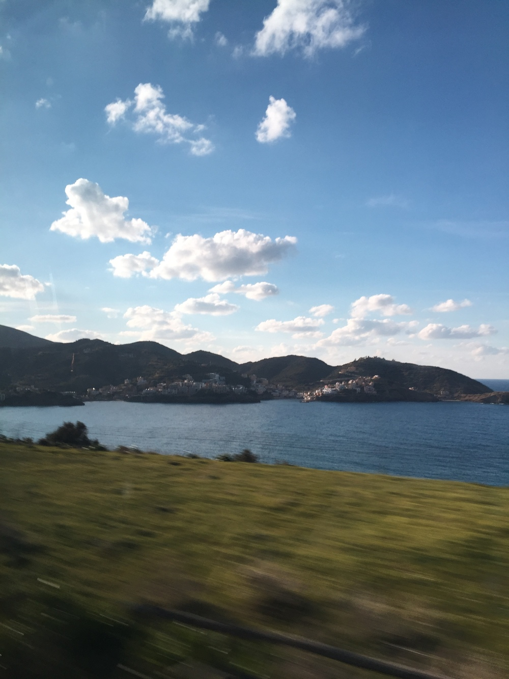 Driving through the island of Crete