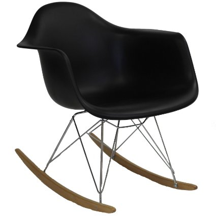 LexMod Plastic Rocking Chair