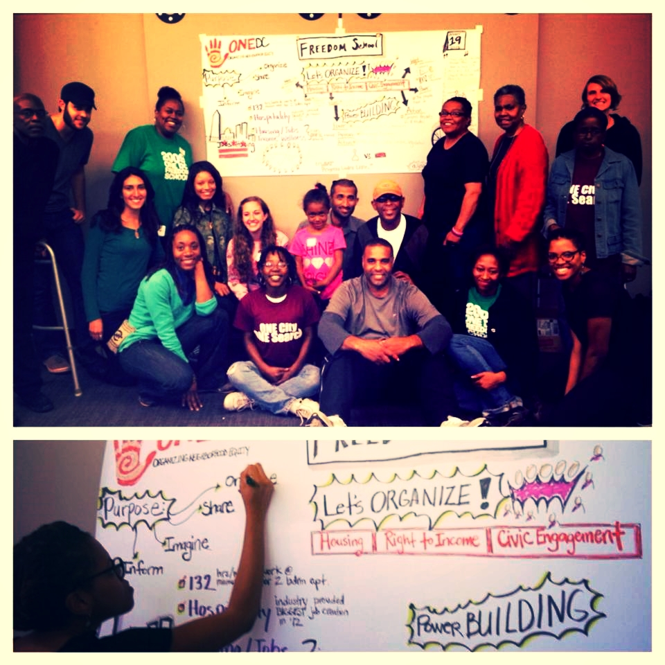 Graphic Recording at ONE DC Teach-in