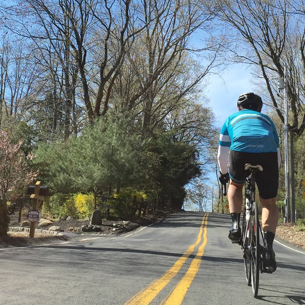Roberto climbing out of Piermont, New York.