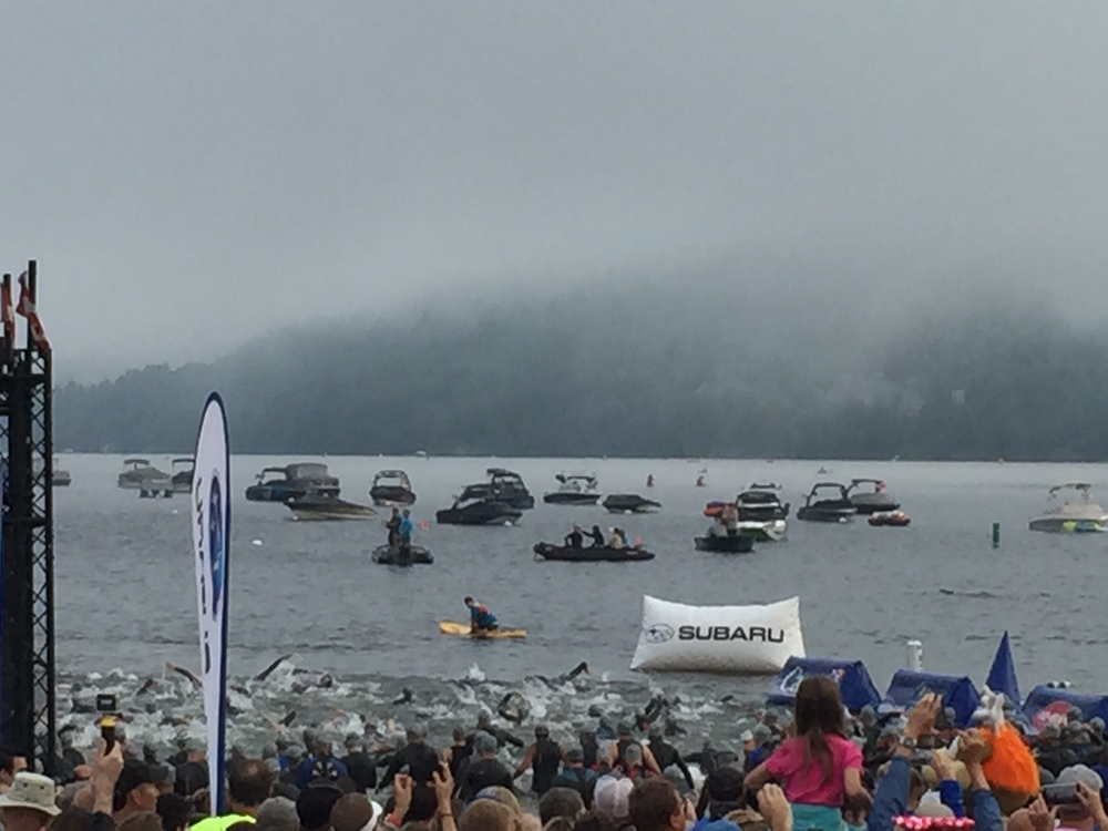 Swim Start IM Mont Tremblant