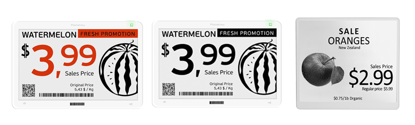 Fresh food hanging electronic shelf labels