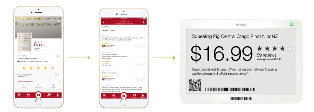 Example of App using Reviews and applying to e-pricing labels