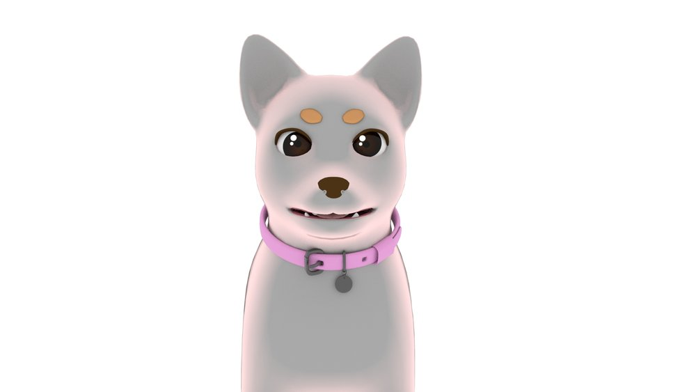 Main character, Roxy, with shading only, untextured. WIP.