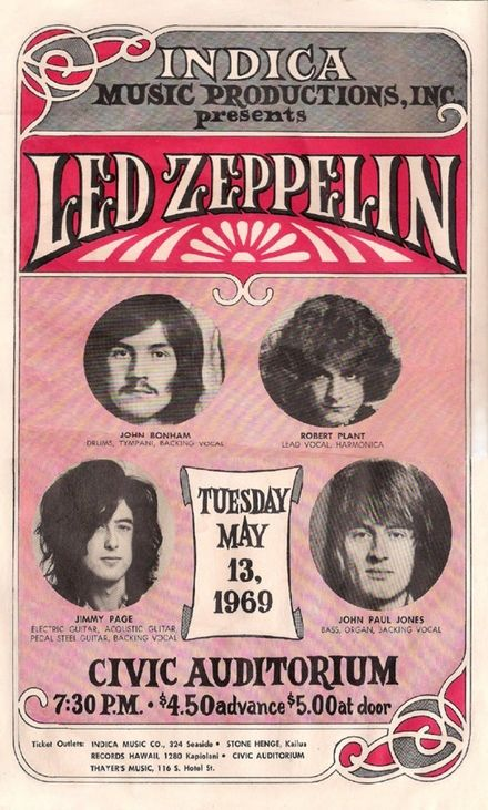 In 1969, you could see Led Zeppelin for $5 - That's equivalent to $33 today.