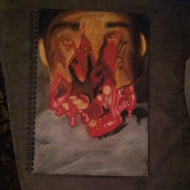 A3 size soft pastel on paper