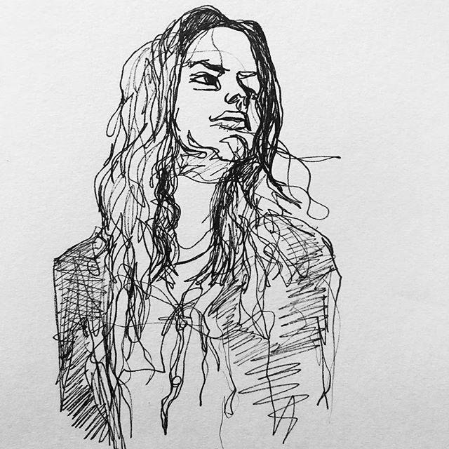 Liv Tyler | One Liner ⚡️⚡️⚡️ . . . . Copyright 2018 Yokai Studios Original Illustration by Hassan Warrior . . #yokai #yokaistudios #yokaistudiosshop #etsy #art #artwork #wemakeart #illustration #illustrator #drawing #blackandwhite #black #bnw #print #archivalprint #fineart #fineartprints #wallart #japaneseink #ink #inkstagram  #artist #blackink #doodle #sketchbook #onelinedrawing #continuouslinedrawing #livtyler