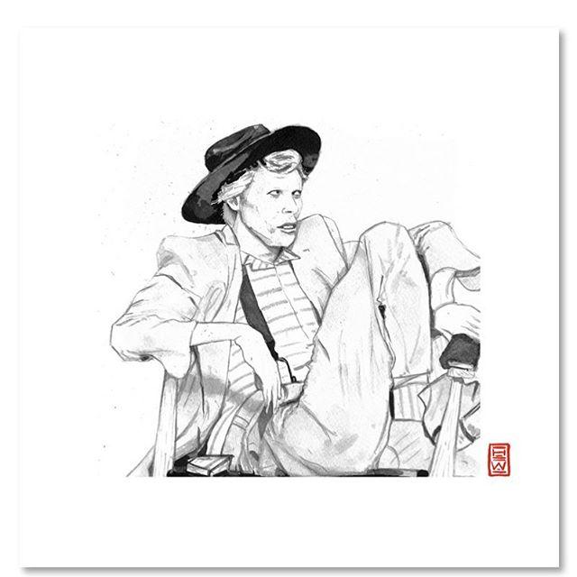 Happy Birthday David Bowie⚡️⚡️⚡️ . . . To purchase an archival print from us, clink link in profile. . . Copyright 2019 Yokai Studios Illustration by Hassan Warrior . .  #yokai #yokaistudios #yokaistudiosshop #etsy #art #artwork #wemakeart #illustration #illustrator #drawing #blackandwhite #black #bnw #archivalprint #fineart #wallart #japanese #japaneseink #ink #brush #tattoo #music #inkpainting #davidbowie