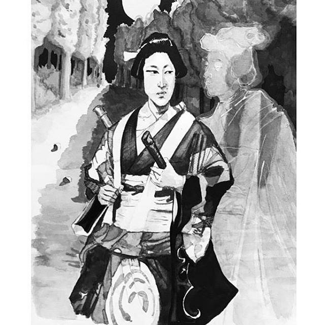 Folklore⚡️⚡️⚡️ . . . To purchase an archival print from us, clink link in profile. . . Copyright 2019 Yokai Studios Illustration by Hassan Warrior . .  #yokai #yokaistudios #yokaistudiosshop #etsy #art #artwork #wemakeart #illustration #illustrator #drawing #blackandwhite #black #bnw #archivalprint #fineart #wallart #japanese #japaneseink #ink #brush #tattoo #music #inkpainting #folklore #spiritual #japan
