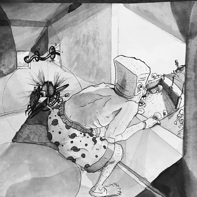 1996 Saturday Morning⚡️⚡️⚡️ . . . To purchase an archival print from us, clink link in profile. . . Copyright 2019 Yokai Studios Illustration by Hassan Warrior . .  #yokai #yokaistudios #yokaistudiosshop #etsy #art #artwork #wemakeart #illustration #illustrator #drawing #blackandwhite #black #bnw #archivalprint #fineart #wallart #japanese #japaneseink #ink #brush #tattoo #music #inkpainting #1996