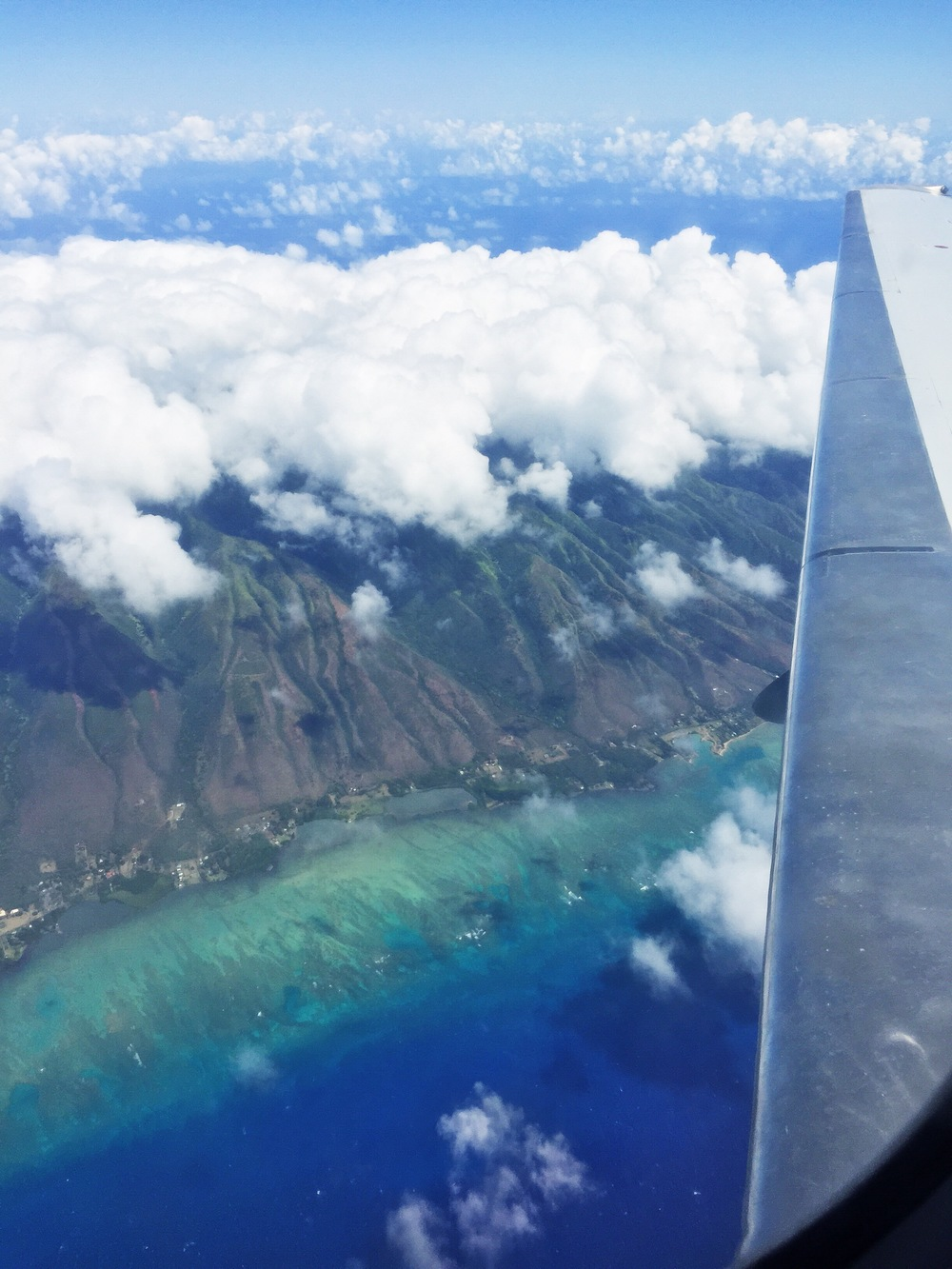Hawaiian Airline from Maui to Oahu