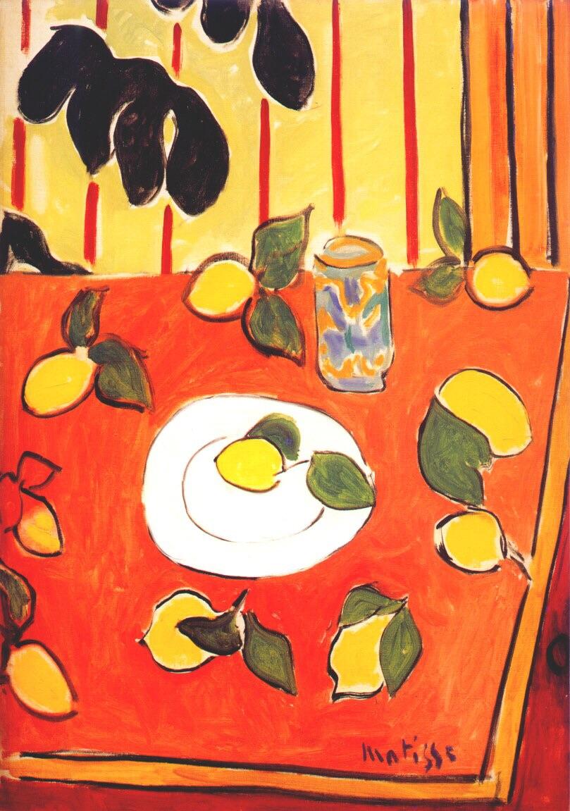 Henri Matisse Black Philodendron And Lemons 1943