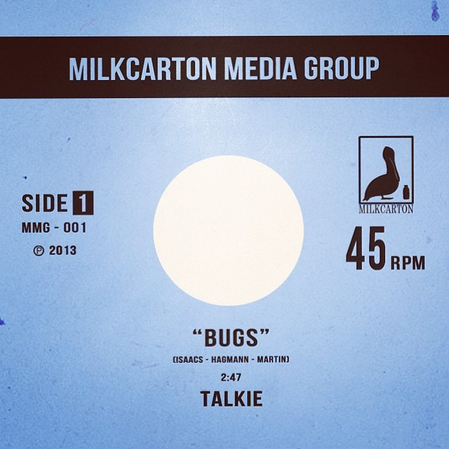 "Starting tomorrow, ""Bugs"" & ""Pretty"" will be available to stream on @Spotify! #talkiemusic #milkcartonmediagroup"