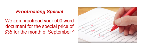 Virtual Assistant Proofreading Special