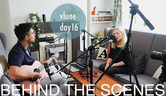 "So excited to share today's vlog - behind the scenes of us recording in our living room ""studio"". Click the link on our profile to watch and please subscribe to help our small channel grow."