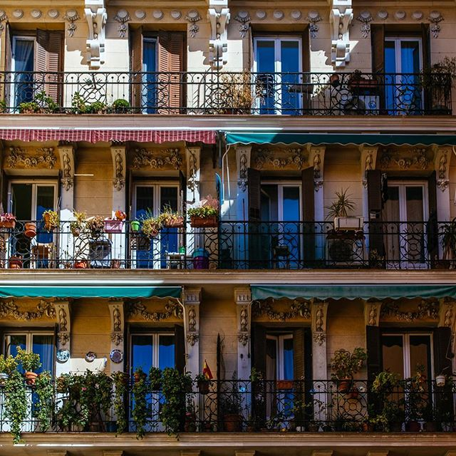 Beautiful balconies in Madrid, Feb 2018. I loved the way the sun cut across these apartments which were set back slightly on a street of mostly shops.  #beautifulbalcony #suzyandalex #suzywimbournephotography #liveforthestory #wanderlust #adventurealways #livefolk #lifeofadventure #igersmadrid #loves_madrid #total_madrid #madridmemola #madridtme #quieromadrid #madridmagazine #madrid_best_photos #madridtuya #topmadridphoto #themadridbible #madridcityworld #ig_madrid_city #TurismoSpain #ok_madrid #madridseduce #lifeofspain