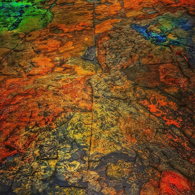 I found the psychedelic rock! #photomanipulation #iphonephotooftheday #iwanttobeinvaded #instagood #nature #beach #rock #colour #snapseed #ErwinsCat #roadtrip #trip #travel #Australia #nsw #art #halosin #psychedelic #psychedelicart