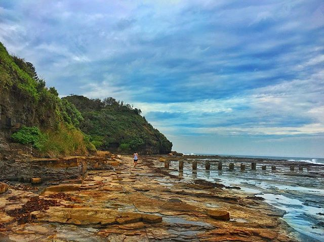 Remains! #jarvisbay #nsw #Australia #surf #rock #clouds #bluesky #ErwinsCat #highcontrast #iphonphotography #iwanttobeinvaded #snapseed #roadtrip #trip #photomanipulation