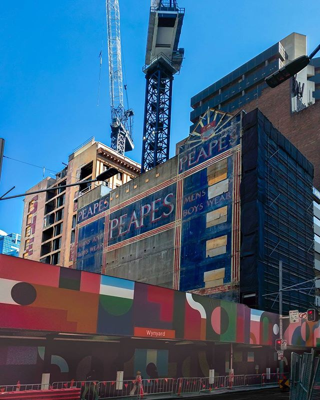 They knocking down old tower block at the Old Menzies Hotel at Sydney CBD and behind that building, there was(is) an Old advertising belong to PEAPES department store. I heard the painting is more than 50 years old and the companion tower covered the Art for a half century and saved it from elements. #sydney #advertisement #mobilephotography #australia #photomanipulation #snapseed #ghostsign #construction #streetphotography #cityscape #erwinscat #rawphoto #wynyard #cameraplus #lightroommobile #departmentstore #peapes