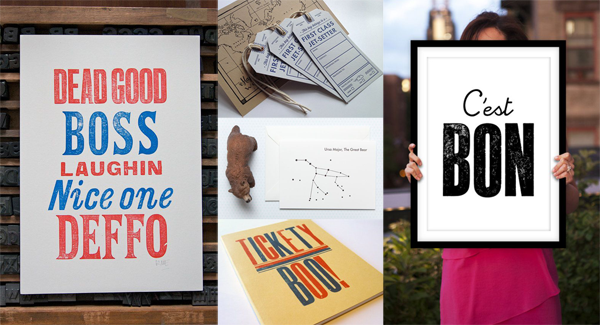 letterpress top buys | the simple things