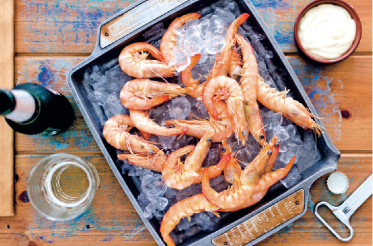 chilled prawns recipe